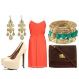 Orange Dress Accessories