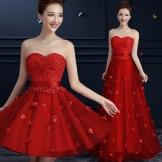 Punainen iltapuku Kiinasta lattialle