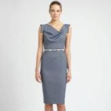 Sheath dress with neckline