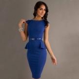 Blue dress with basky