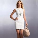 White short sheath dress