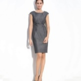 Gray dress with m strap
