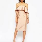 Silke kjole til figuren Pære (trekant)