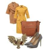Szafari ruha és kiegészítők a karcsú oszlop alakjával