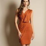 Rochie cu draperie pentru femei cu cifră de clepsidra