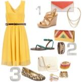 Tilbehør til gul flared kjole