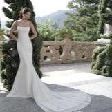 Suknelė su traukinio pavasariu balta