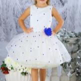 Vestido de ano novo para a menina no estilo dos anos 60