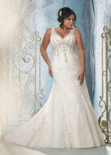 Vestit de núvia per a punt complet amb pedreria