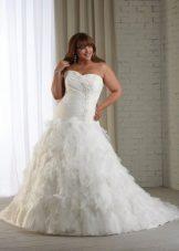 Vestit de núvia amb volant complet