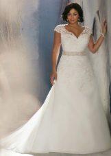 Vestit de núvia per a línia completa amb espatlles tancades