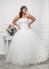 Vestit de núvia per a núvies completes amb cotilla i faldilla completa