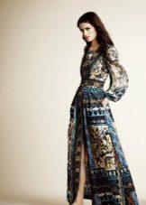Kék bézs esti ruha