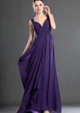 Tmavě fialové večerní šaty