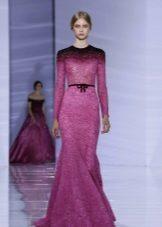 Lila fialové večerní šaty