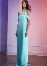 Straight turquoise evening dress