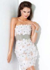 Alb rochie de seară scurtă