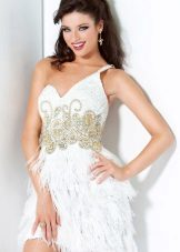 White short evening dress