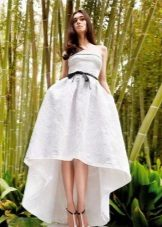 White evening dress short front long back