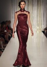 Dress in the evening maroon