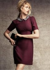 short burgundy evening dress