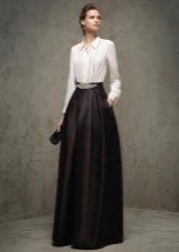 Black and white evening dress by Pronovias