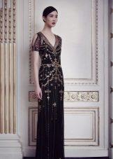 Avond zwarte jurk door Jenny Packham