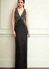 Evening dress black with gray