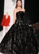 Fluffy evening dress black