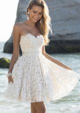 vestido de noite curto branco