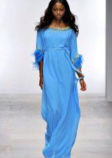 Sininen ilta sifonki mekko