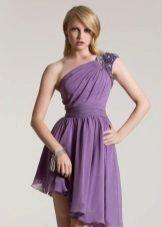 Violetti sifonki mekko strassikivillä