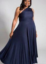 elegant vestit de nit en una sola espatlla de gran mida