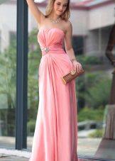 Vestido de noite barato rosa