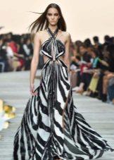 Pakaian Petang Roberto Cavalli dengan Cetak Zebra
