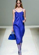 Gaun petang biru