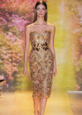 Gaun petang emas