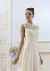 Az esküvői ruha felső részének csipke