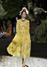 Dolce & Gabbana Imprimir vestido de noite 2016