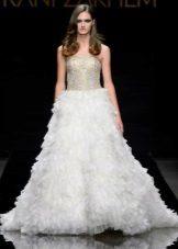 Vestido de noite branco do baile de finalistas 2016