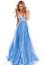 vestido de noite no azul prom
