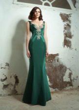 Vestido de noite verde para o baile