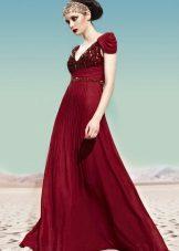 Vestido de noite Império Borgonha
