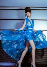 Sifon kék estélyi ruha