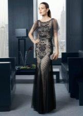 Vestido de noite preto por Rose Clara