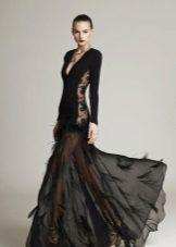 Luotettava mekko, jossa on pitsi-upotettu ilta
