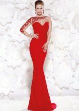 Sexy vestido de noite vermelho