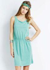 Acessórios de vestido verde turquesa