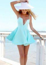 vestido azul-celeste