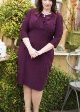 Eggplant dress medium length for magnificent ladies